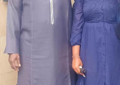 Amy SARR FALL, en compagnie du PDG du groupe ISI, M. Abdou SAMBE