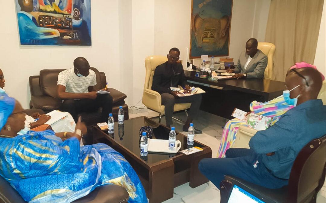 Visite de Mme TOURE, directrice du CENAF (Centre National d'Assistance et de formation pour la Femme)